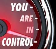 Du är i kontrollmaktstyrka dominerar rätta din framtid Arkivfoton