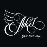 Du är min angel_3 Arkivfoto