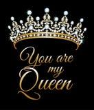 Du är min drottning stock illustrationer