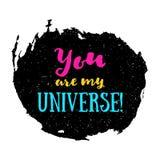 Du är min universumaffisch Royaltyfri Foto