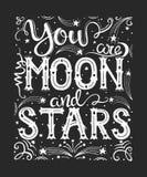 Du är mina måne och stjärnor Arkivfoto
