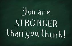 Du är starkare än dig funderaren Royaltyfri Foto