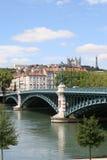 du Γαλλία λ Λυών pont Ροδανός univercit Στοκ Φωτογραφία