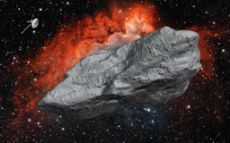 Duża asteroida Obrazy Stock
