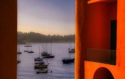 Du balcon orange image libre de droits