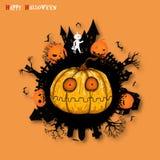Duża bania na Halloween tle od wektoru Obrazy Stock