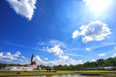 Duża Buddha statua przy phutthamonthon, Nakhon Pathom, Tajlandia Zdjęcia Stock