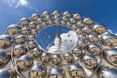 Duża Buddha statua przy Wata Phra Thart Pha synem Kaew Obraz Stock