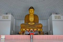 Duża Buddha statua w Czcigodnym Hong Choon Memorial Hall, Singapur Zdjęcie Stock