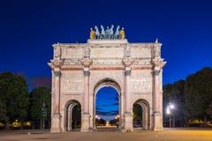 凯旋门du Carrousel在巴黎,法国 图库摄影