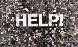 Du centre dites l'aide ! Images libres de droits