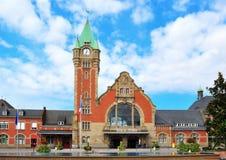 Du Colmar van Gare station in de Elzas, Frankrijk Stock Foto