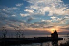 Duża Czerwona latarnia morska Zdjęcie Royalty Free
