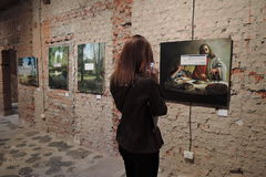 19/92 Du début Exposition d'art moderne à Moscou Images libres de droits