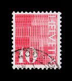 ` Du ` 10 de chiffres sur le fond modelé, serie numéral, vers 1970 Images libres de droits