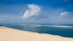 du dune pyla 免版税库存图片