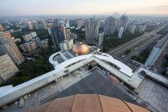 Duże budowy na dachu obrazy royalty free