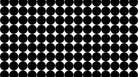 Du?e czarne polek kropki - prosty retro wz?r dla kreatywnie, 3d odp?aca si?, czarna polki kropka na bia?ym tle ilustracja wektor