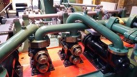 Duże drymby od starego parowego silnika Fotografia Stock