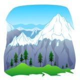 duże krajobrazowe halne góry royalty ilustracja