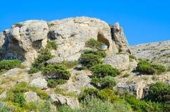 duże krajobrazowe halne góry caves Zdjęcia Royalty Free