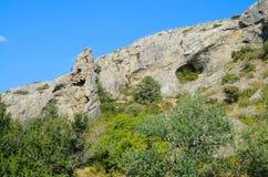 duże krajobrazowe halne góry caves Fotografia Royalty Free
