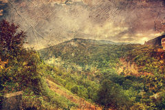 duże krajobrazowe halne góry crimea Ukraina Fotografia Stock