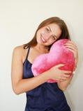 dużego dnia s valentine czerwona kobieta Zdjęcie Stock