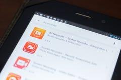 DU Ekranizujący Pisak ikona na liście mobilni apps Ryazan Rosja, Kwiecień - 19, 2018 - Zdjęcia Royalty Free