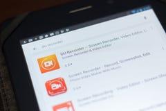 DU Ekranizujący Pisak ikona na liście mobilni apps Ryazan Rosja, Kwiecień - 19, 2018 - Obraz Stock