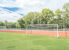 But du football dans le domaine Photographie stock libre de droits