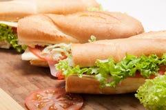 Duża francuska kanapka Fotografia Royalty Free