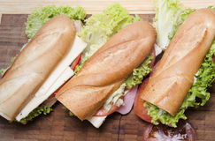 Duża francuska kanapka Zdjęcia Royalty Free