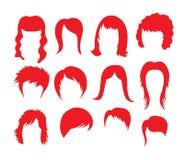 Duża fryzury kolekcja Obraz Royalty Free