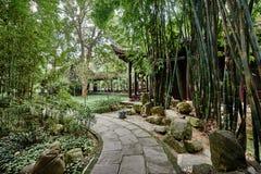 Du Fu a couvert le cottage de chaume Chengdu Sichuan Chine Photos stock