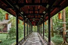 Du Fu deckte Häuschen Chengdu Sichuan China mit Stroh Stockfoto