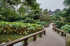 Du Fu met stro bedekt Plattelandshuisje Chengdu Sichuan China Royalty-vrije Stock Afbeeldingen