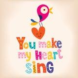 Du gör min hjärta att sjunga royaltyfri illustrationer