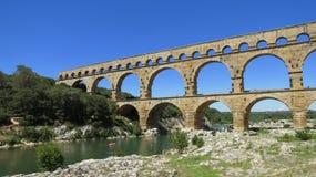 du Gard pont Στοκ Φωτογραφίες