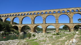 du Gard pont Στοκ φωτογραφία με δικαίωμα ελεύθερης χρήσης