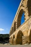 Du Gard van Pont aquaduct in Frankrijk Stock Foto