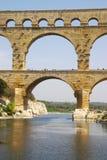 Du Gard van Pont brugfragment Royalty-vrije Stock Fotografie