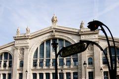 du Gare nord Paris stacja Obrazy Stock