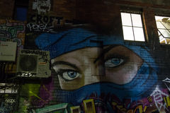 Duża graffiti twarz Obrazy Royalty Free