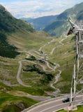 Du haut de la route de Transfagarasan, la Roumanie Photo stock