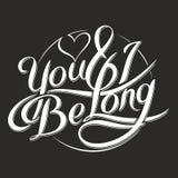 Du & I är long_6 Royaltyfri Fotografi