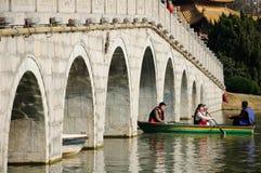 Du Jin Bridge i Hefei Kina Royaltyfria Bilder