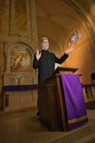 Präst Preacher, minister, prästerskap, religion Arkivbild