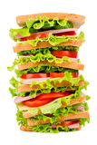 Duża kanapka Fotografia Royalty Free