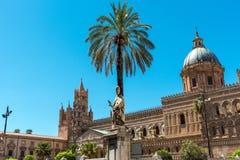 Duża katedra Palermo Fotografia Stock